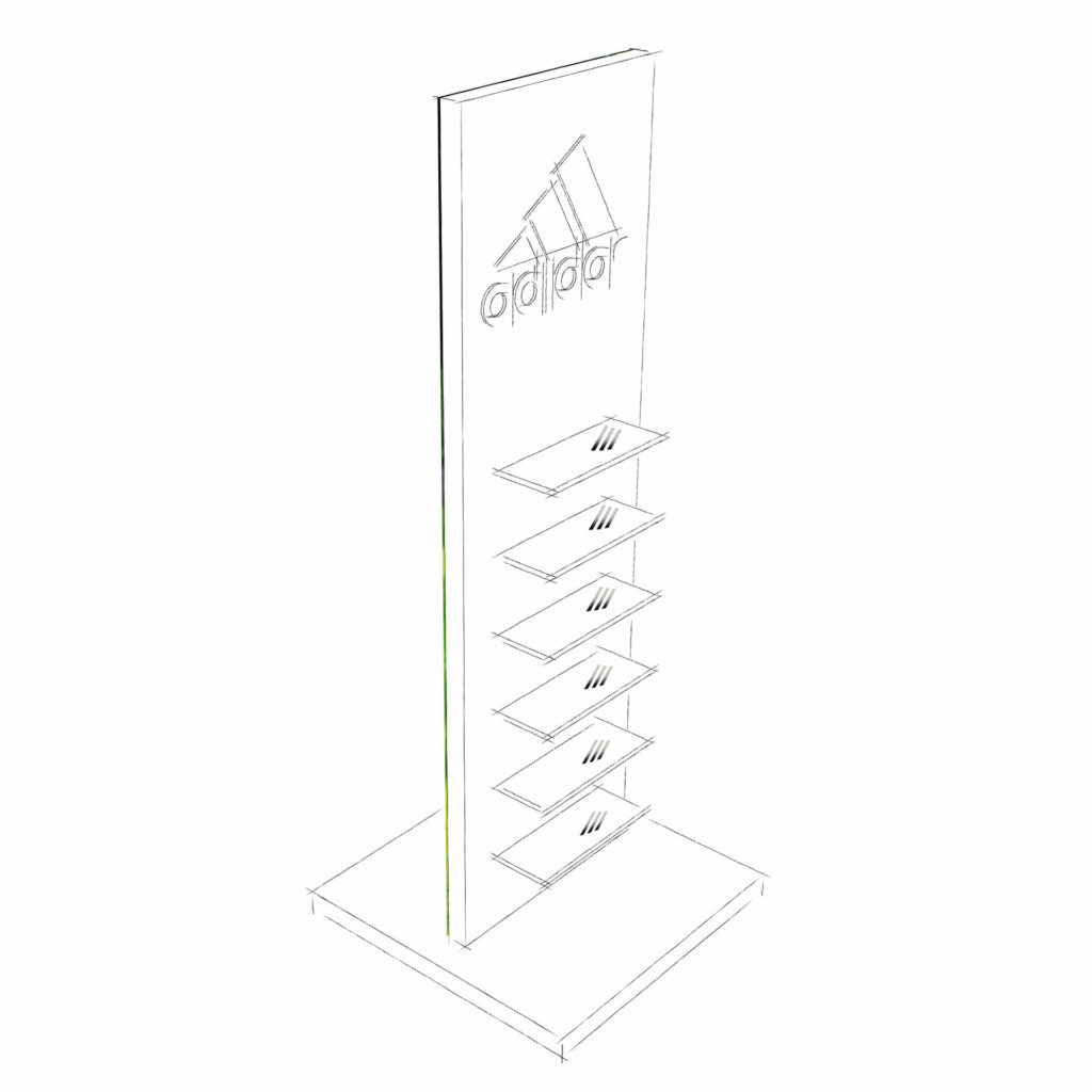 Adidas Footware Stand Drawing 1