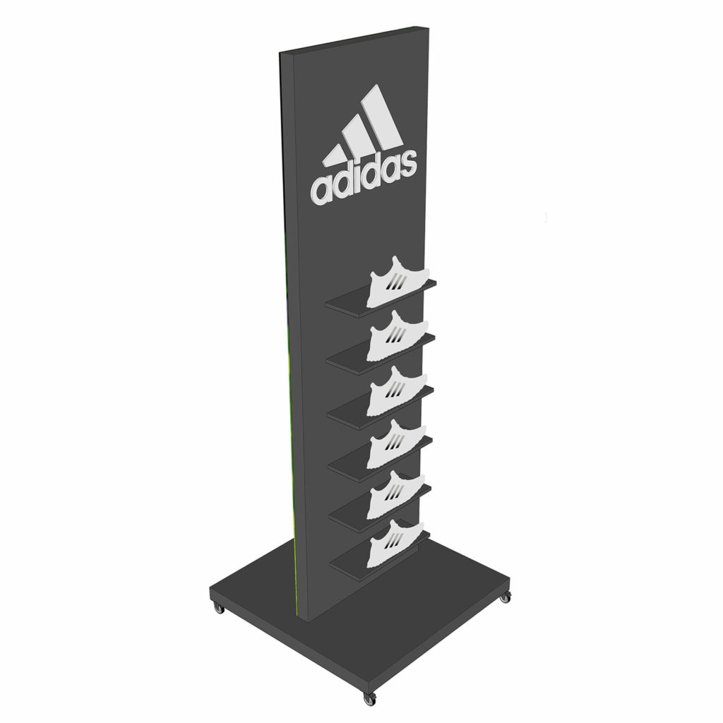 Adidas Footware Stand Drawing 3